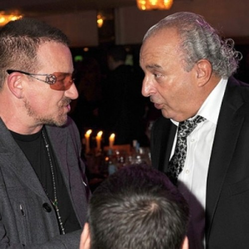 Phillip Green with Bono