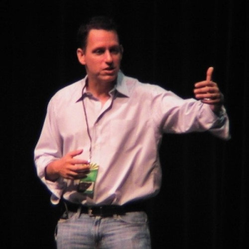 Peter Thiel at a lecture