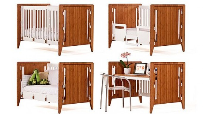 Gro Furniture modular crib is the perfect baby furniture that grows with your kid