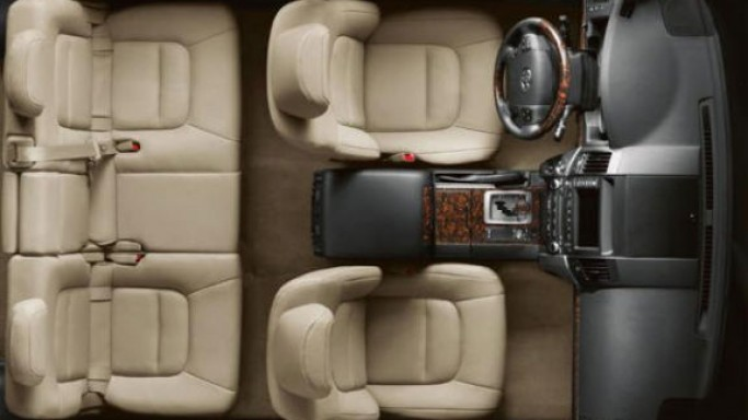 Land Cruiser's interior