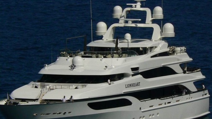 Lionheart yacht at the Monaco port