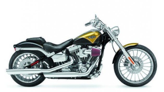 Harley-Davidson 2013 Breakout CVO in Pagan Gold paint marks 110th anniversary