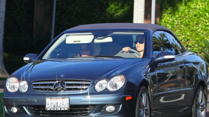 Katie Holmes drives Mercedes Benz CLK