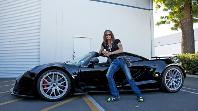 Aerosmith front man Steven Tyler paid around $1.1 million to acquire a metallic black Hennessey Venom GT Spyder