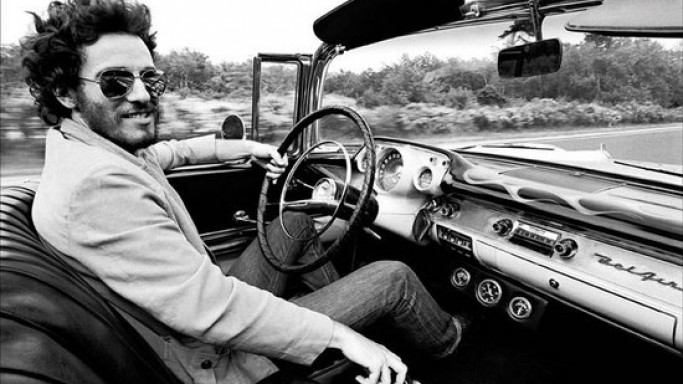 Bruce Springsteen drives 1957 Chevy Bel Air convertible