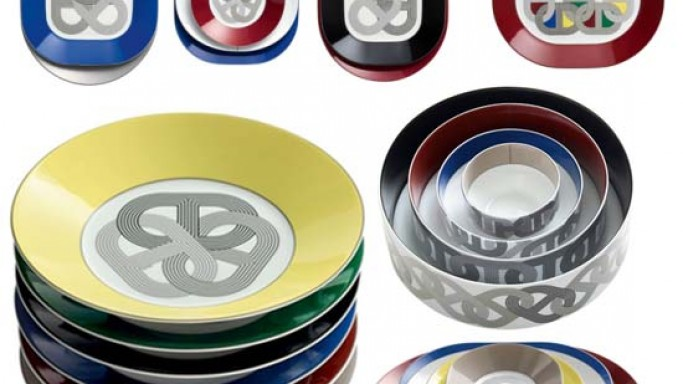 Hermès tableware Rallye 24 collection is inspired by vintage sports cars and racing tracks