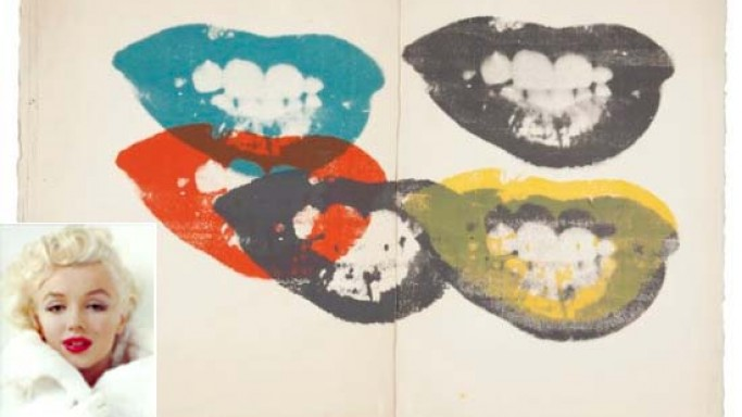 "Andy Warhol's 1964 lithograph ""Marilyn Monroe I Love Your Kiss Forever Forever,"" tops at Christie's Auction"