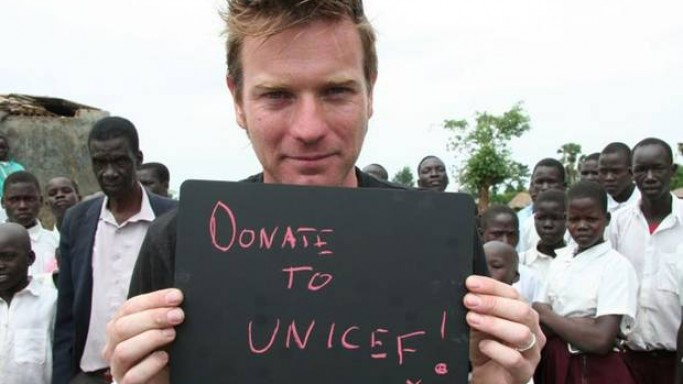 Ewan McGregor supports UNICEF