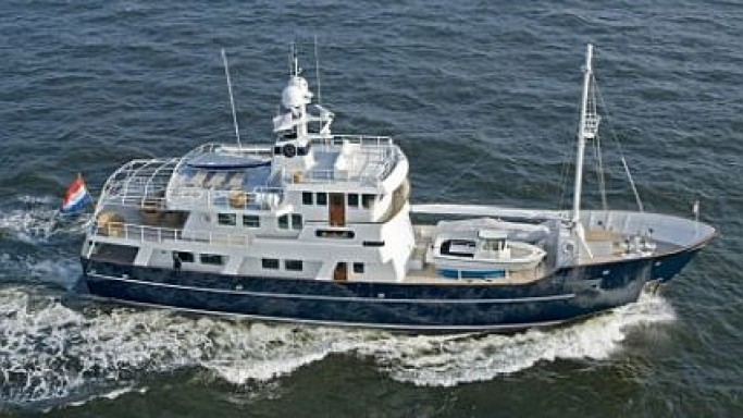 121-foot Dardanella Yacht up for sale