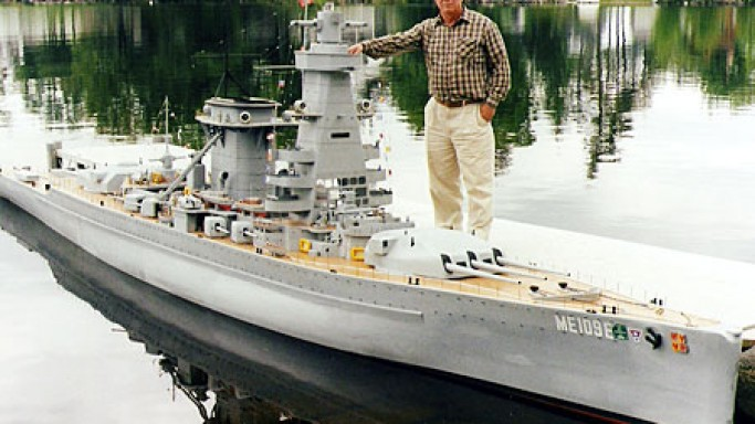 $10,000 World War II German battleship replica