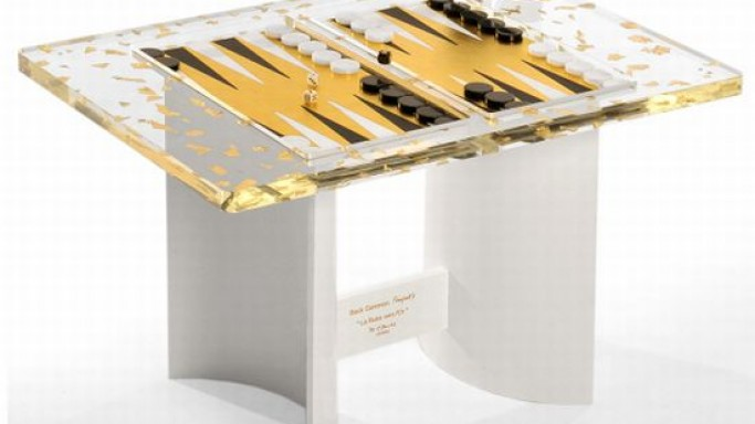 Gold Rush Backgammon coffee table by E.David