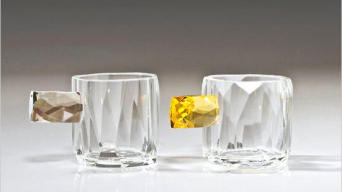 Add a festive touch to your table with Sculptural Glass Cups by Orfeo Quagliata