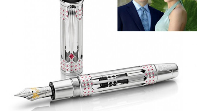 The Montblanc Wedding Pen is a tribute to the Monaco royal wedding