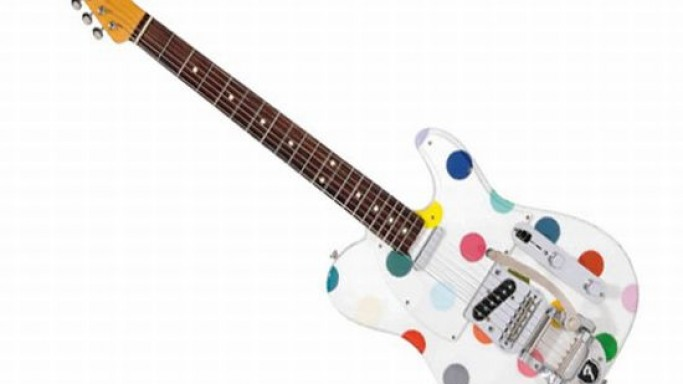 Custom Fender Guitar by Damien Hirst up for auction at Christie's art sale