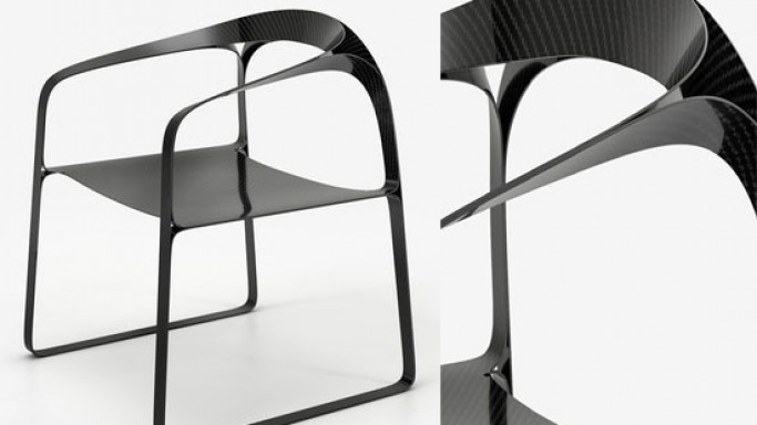 Carbon Fiber chair by Timothy Schreiber is about minimalism