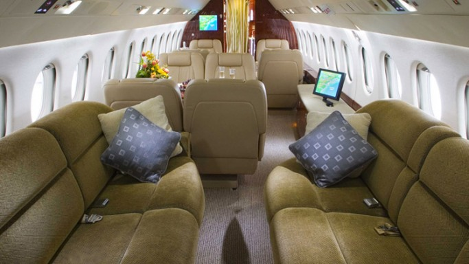 Magnificent luxury private jet