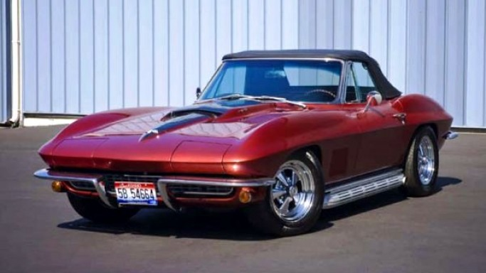 1967 Corvette Roadster car - Color: Red  // Description: costly