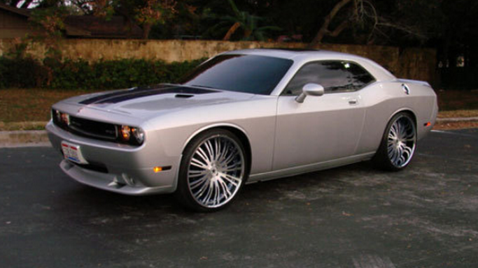 Dodge Challenger SRT car - Color: Gray  // Description: classy