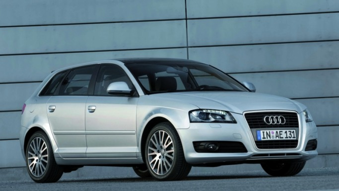 Audi A3 car - Color: Silver  // Description: elegant