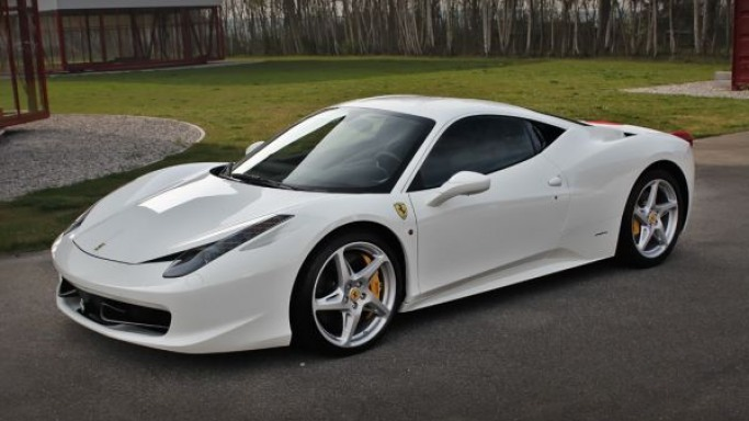 Ferrari 458 Italia car - Color: White  // Description: costly