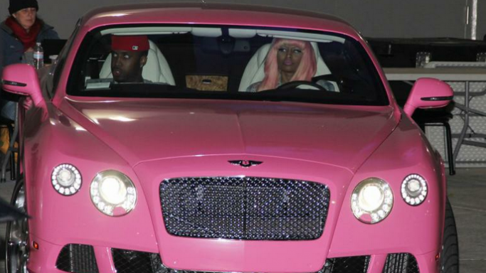 Bentley Continental GT car - Color: Pink  // Description: showy