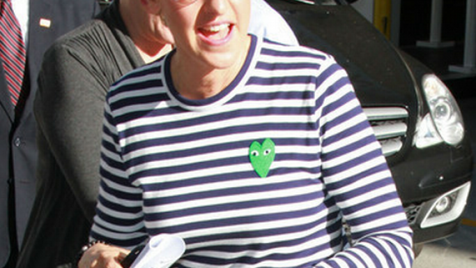 She has been spotted many times wearing the shirts by Comme Des Garcons