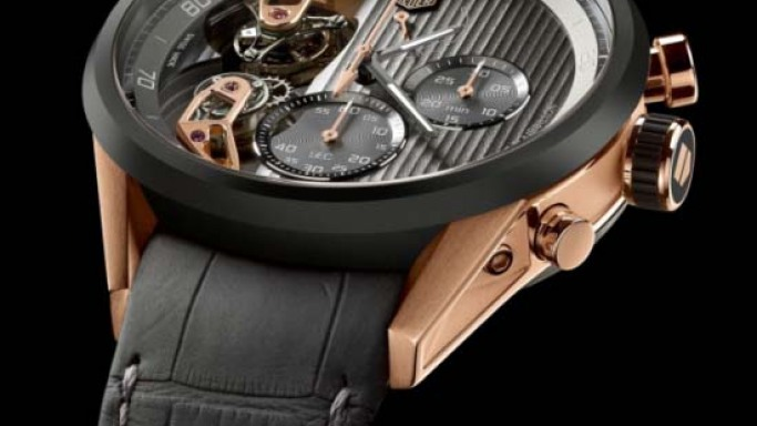 TAG Heuer MikrotourbillonS wristwatch is equipped with two tourbillon