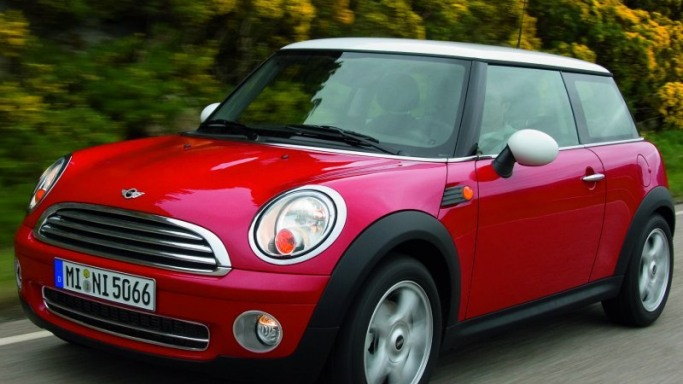 One of Ashley Tisdale's beloved rides around town is a red Mini Cooper