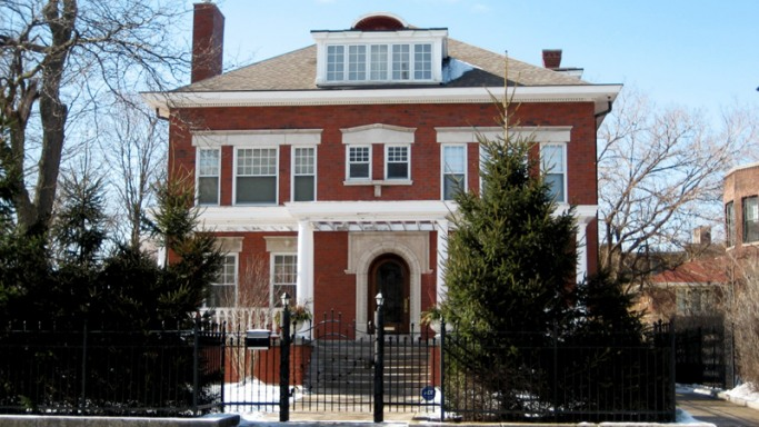 Barack Obama mansion in Chicago, Illinois, USA
