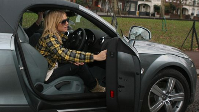 photo of Sienna Miller Audi TT - car