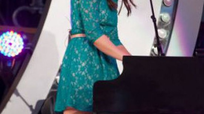 Bareilles wore the stylish lace dress to one of her concerts.
