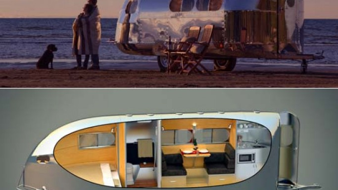The $100,000 Bowlus Road Chief is a classic American travel trailer that looks like a rolling art