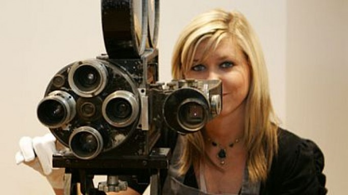 Charlie Chaplin's personal movie camera at Christie's auction house