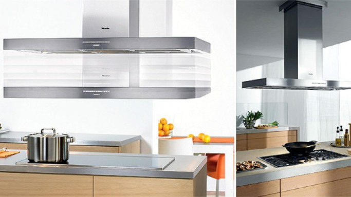 Miele's Motorized Height-adjustable Ventilation Hood for Hi-Tech Kitchen
