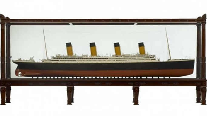 RMS Titanic Scale Model is framed for $2,500,000