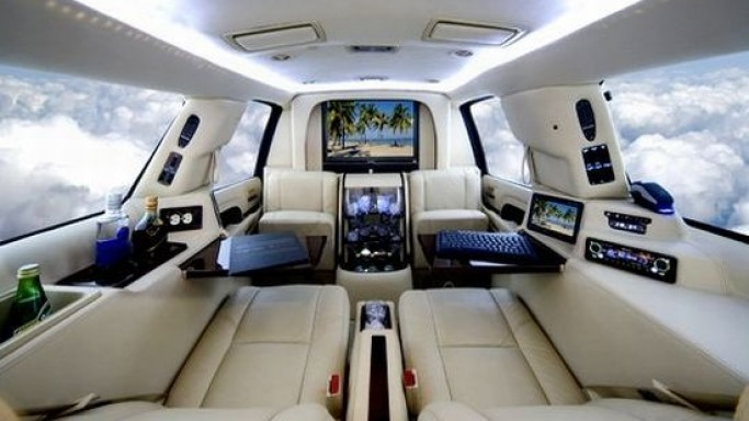Mobile Office SUV – A luxurious, high-tech office on wheels!