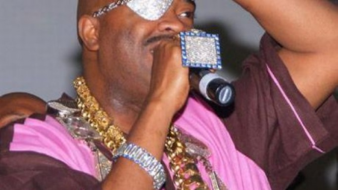 Rapper Slick Rick's diamond encrusted eye patch sold at auction