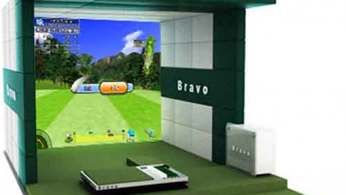 Bravo Golf Simulator boasts 3D graphics and traces the ball's movement in real time
