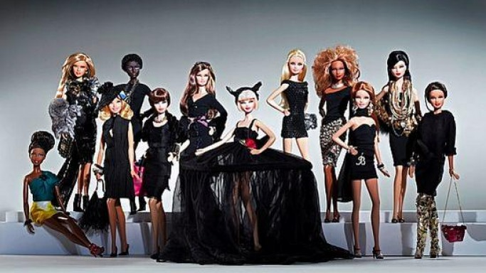 Designer Barbies in black are up for auction