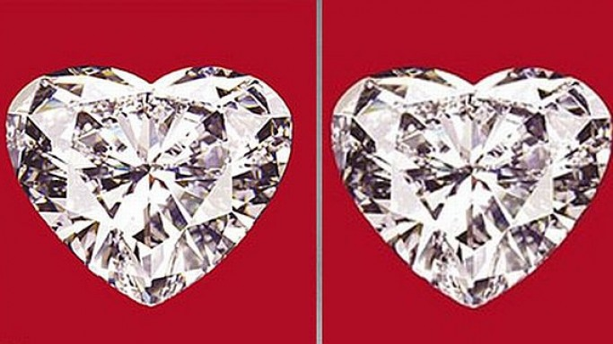 Now, that's love! Dazzle her with a 56-carat heart-shaped diamond