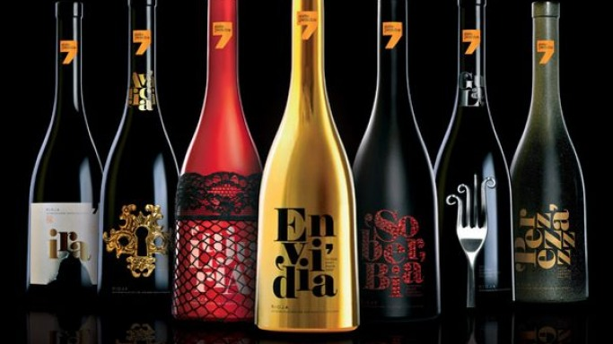 Sidecar Publicidad presents wine bottles inspired by the seven deadly sins
