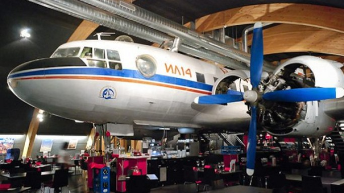 Runway 34: A vintage airplane-turned-restaurant and bar