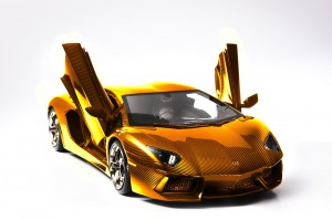 Lamborghini Carves the Most Expensive Car from Gold