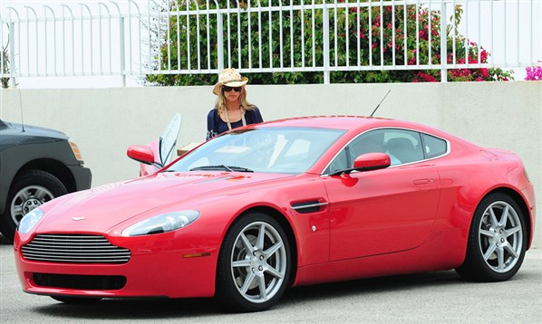 photo of Denise Richards Cadillac Escalade, Mercedes-Benz GL450, Aston Martin V8 Vantage,  - car